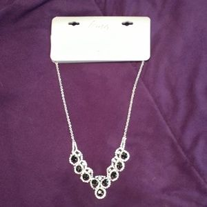 New Icing Bling Rhinestone Necklace and Black Gems